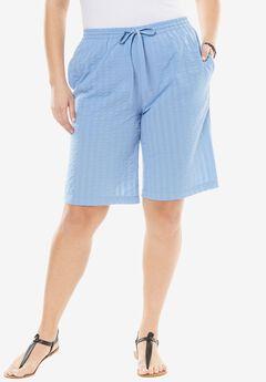 Seersucker Short, FRENCH BLUE, hi-res
