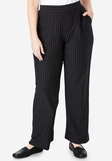 25f81ee5530 Wide Leg Ponte Knit Pant