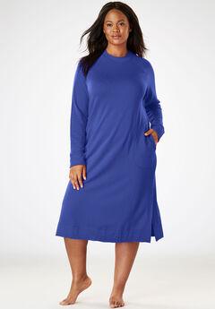 Short Knit Lounger by Dreams & Co.®, BLUE SAPPHIRE, hi-res
