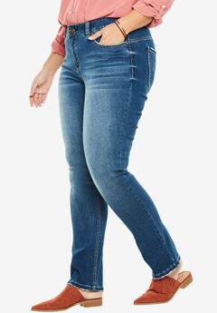 Curvy Straight Leg Slimmer Jean, MEDIUM, hi-res