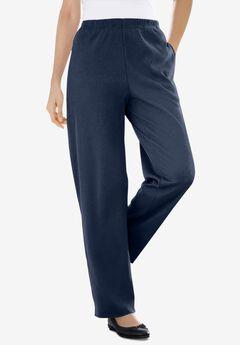 7-Day Knit Ribbed Straight Leg Pant, NAVY