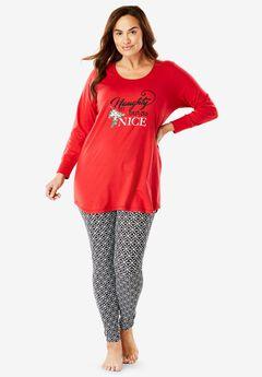 2-Piece PJ Legging Set by Dreams & Co.®, , hi-res