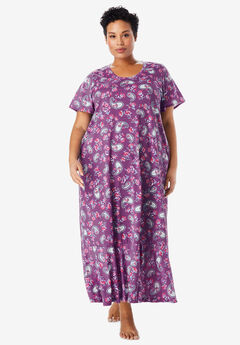 Cool Dreams Flounced Nightgown by Only Necessities®, RADIANT ORCHID PAISLEY