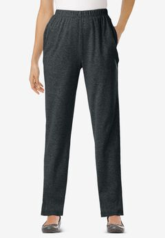 7-Day Knit Straight Leg Pant, HEATHER CHARCOAL