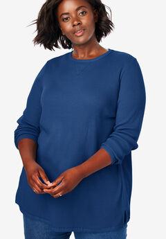 Thermal Sweatshirt, EVENING BLUE