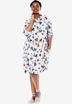 Drapey Shirt Dress,