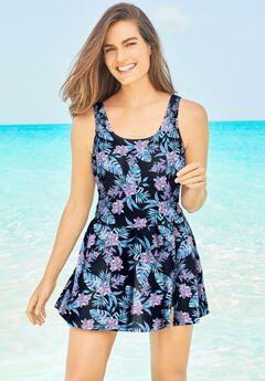 Side-Slit Swim Dress,