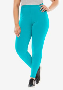 Stretch Cotton Legging, VIBRANT TURQ, hi-res
