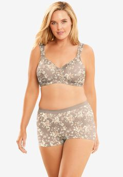 Microfiber Wireless T-Shirt Bra by Comfort Choice®, LIGHT TAUPE WILLOW