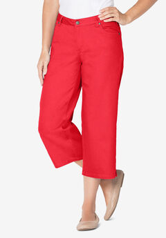 Capri Stretch Jean, VIVID RED