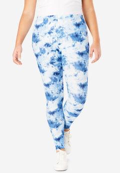 Cozy Legging, BLUE SPECKLE TIE-DYE
