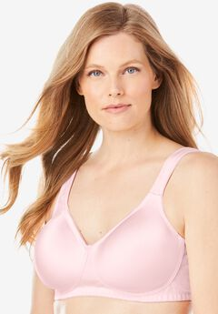 Microfiber Wireless T-Shirt Bra by Comfort Choice®, SHELL PINK