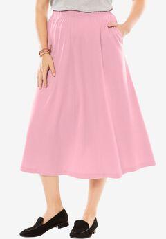 7-Day Knit A-Line Skirt, ROSE MIST, hi-res