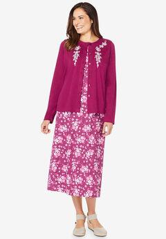 2-Piece Knit Jacket and Dress,