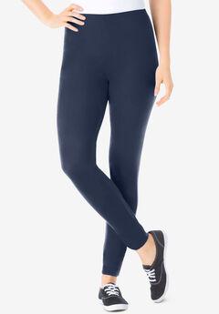 Stretch Cotton Legging, NAVY