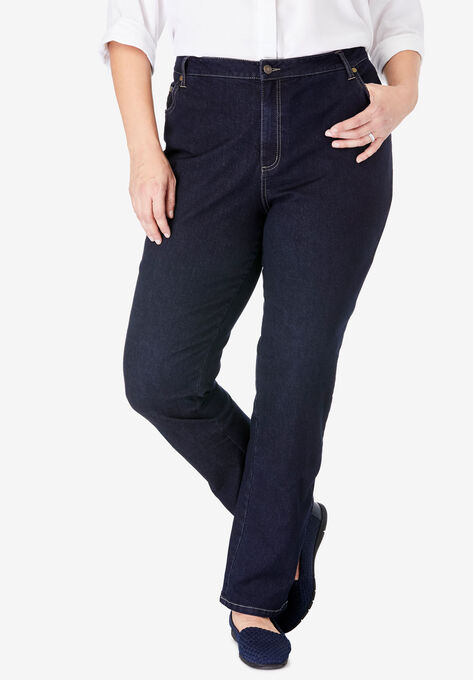 5939c29e1b0 Straight Leg Stretch Jean| Plus Size Tall | Woman Within