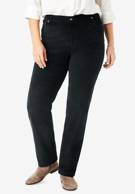 3c479d4bdd4 Corduroy Straight Leg Stretch Pant| Plus Size Pants | Woman Within