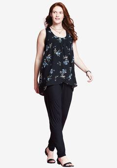 Cascade Jumpsuit by Chelsea Studio®, BLACK FLORAL, hi-res
