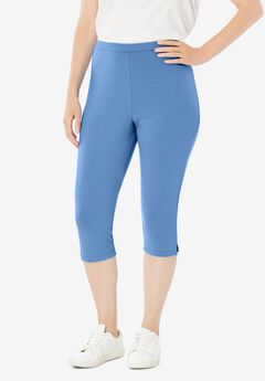 Stretch Cotton Capri Legging,