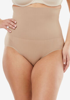Seamless High Waist Brief by Secret Solutions® Curvewear,