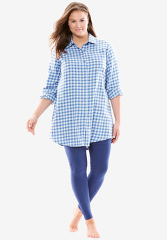 Pajama sleep set in flannel and jersey by Dreams & Co.®,