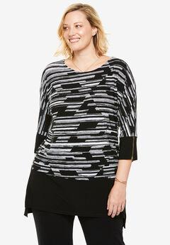 Colorblock tunic,
