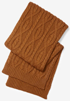 Cable Knit Scarf, GINGER