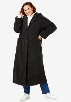 Long Hooded Berber Fleece Coat,