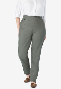 Straight Leg Smooth Waist Jean, OLIVE GREY