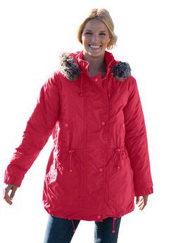 Taslon® Anorak Coat, CLASSIC RED, hi-res