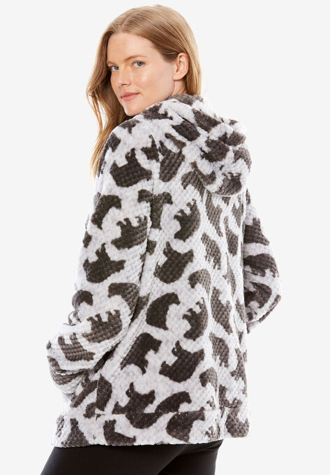 8c360efcc44cad Plush Hooded Bed Jacket by Dreams & Co.®| Plus Size Sleep | Woman Within