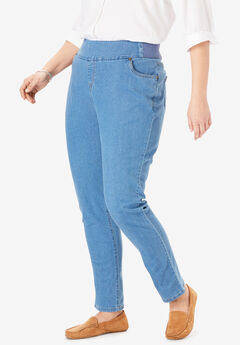 Smooth Waist Skinny Jean, LIGHT STONEWASH