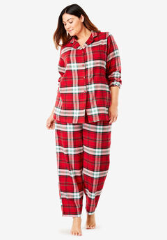 Printed Flannel PJ Set by Dreams & Co.®, CLASSIC RED PLAID