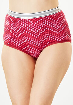 2-Pack Stretch Cotton Full-Cut Sports Brief by Comfort Choice®, POMEGRANATE DOT, hi-res