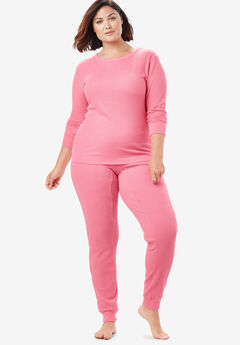 Thermal Long Sleeve Tee by Comfort Choice®, DAZZLING PINK