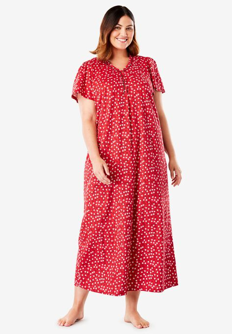 Henley night gown by Only Necessities® | Plus Size Sleep Gowns ...