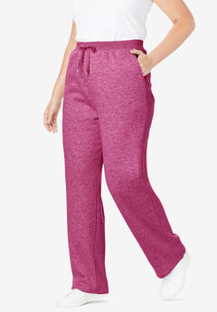 Better Fleece Sweatpant, HEATHER DEEP CRANBERRY