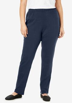 7-Day Knit Slim-Leg Pant, NAVY