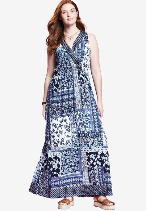 e68ffbfe91af5 Surplice Maxi Dress by Chelsea Studio®| Plus Size Maxi Dresses ...