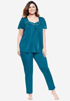 Silky 2-Piece PJ Set by Only Necessities®, DEEP TEAL
