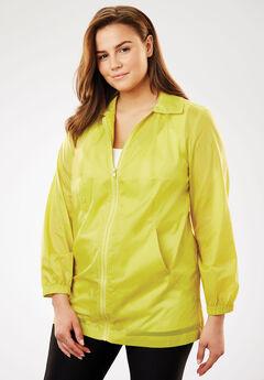 Nylon Jacket, zip front style, CITRON, hi-res