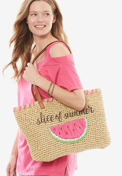 Shore Thing Straw Tote, SLICE OF SUMMER, hi-res