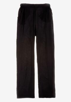 Straight Leg Lightweight Soft Pants, BLACK, hi-res