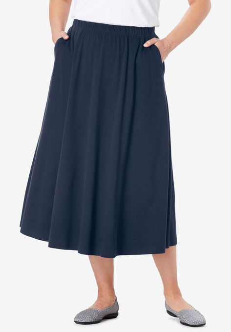 6089eb1202a 7-Day Knit A-Line Skirt