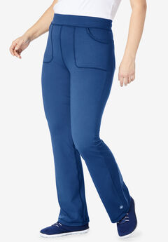 FullBeauty SPORT® Bootcut Knit Pant, EVENING BLUE