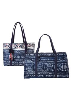 Two-Piece Bandana-Print Travel Set, NAVY BANDANA PRINT, hi-res