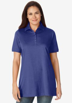 Perfect Short-Sleeve Polo Shirt, ULTRA BLUE