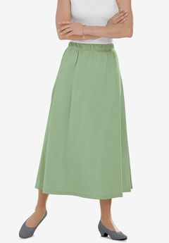 7-Day Knit A-Line Skirt, SAGE