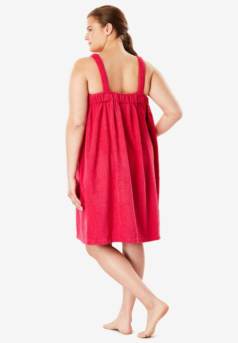 Terry Towel Wrap By Dreams & Co.® | Plus Size Robes & Slippers ...