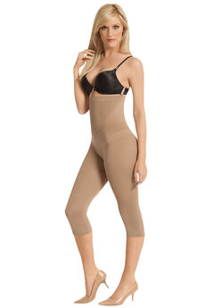 Capri legging shaper girdle with high waist by Julie France®, NUDE, hi-res